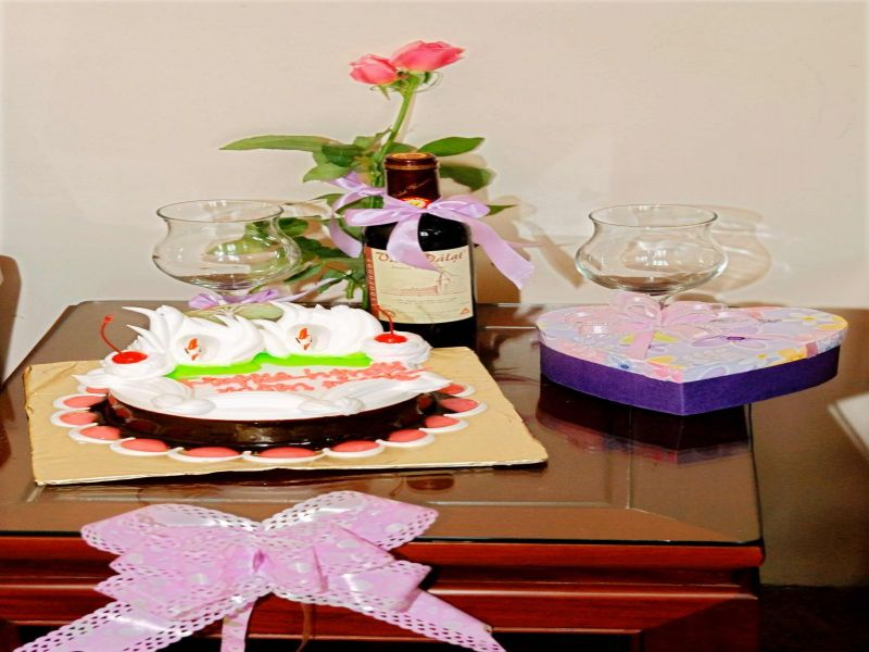 Birthday party celebration for guests