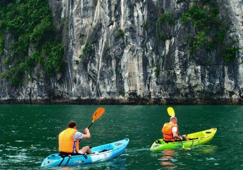 Golden Lotus Junk - Kayaking on Halong